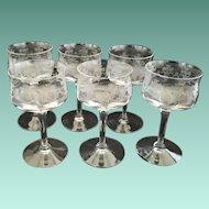 Vintage Set of Six Heisey Glass Cordials