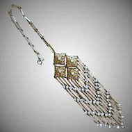Antique Openwork Filigree Large Lavalier Necklace
