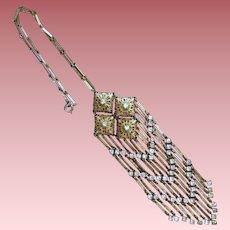 Antique Openwork Filigree Large Lavalier Necklace
