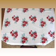 Vintage  Wilendur Hibiscus Flower Tablecloth