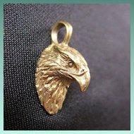 Vintage 10K Gold Eagle Bird Pendant or Charm