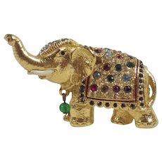 Vintage Sphinx Elephant Brooch