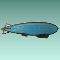 Vintage Early Enamel Blimp Pin
