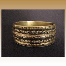 Vintage Wide Brass Bangle Bracelet