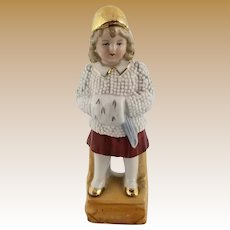 Signed Antique Little Girl Figurine