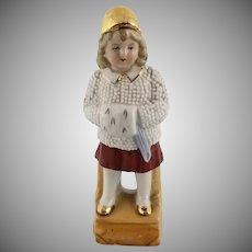Signed Antique Little Girl Figurine