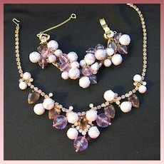 Vintage Juliana by Delizza and Elster Demi Parure