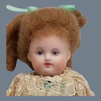 SALE! Vintage Handpainted Artisan Bisque Doll
