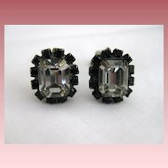 Vintage Signed Liz Palacios Swarovski Crystal Rhinestone Earrings