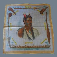 Vintage New Zealand Souvenir Handkerchief