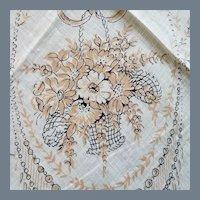 Vintage Paris France Souvenir Handkerchief