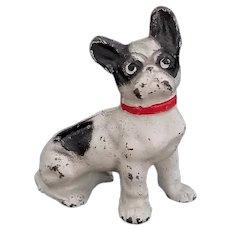 Vintage Hubley Cast Iron French Bull Dog