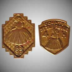 Vintage Set of Two 4-H Pins
