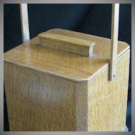 Vintage Oak Wood Tea Caddy or Sugar Box