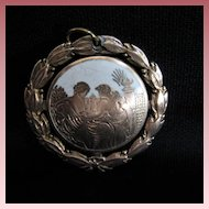Unusual Vintage Double Sided 10K Rose Gold Pendant Fob