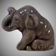 Vintage Signed Small Porcelain Asian Elephant