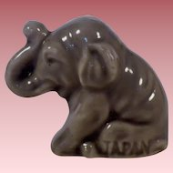 Vintage Signed Small Porcelain Asian Elephant