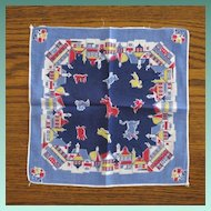 Vintage Children's Primary Colors Handkerchief