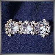 Vintage Crystal Rhinestone Brooch