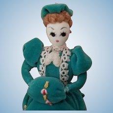Vintage Hand Made Miniature Cloth Doll
