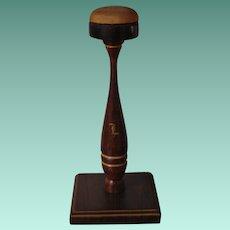 Vintage Monogrammed Wood Hat Stand