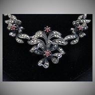 Rare Antique Spessartite Garnet Necklace