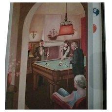 Vintage Framed Color Advertising Print