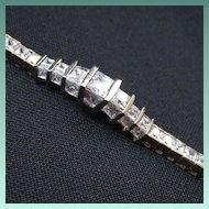 Vintage Vermeil & Cubic Zirconia Bracelet