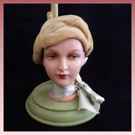Vintage Doll Head Hat Stand