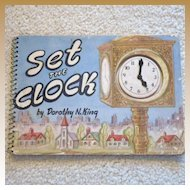 "Vintage Spiral Bound Cardboard Book - ""Set the Clock"""