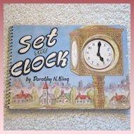 "Vintage Spiral Bound Cardboard Book - ""Set the Clock"""