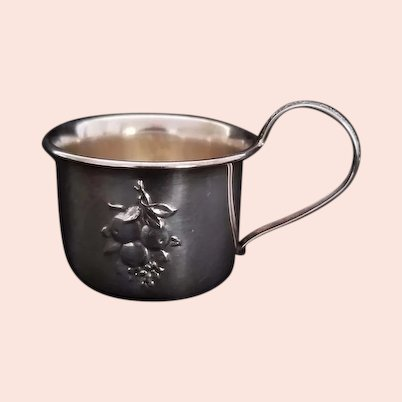 Vintage Signed Webster Sterling Silver Holloware Baby Cup
