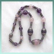 Vintage Venetian Glass Bead Choker Necklace