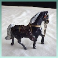 Vintage Cast Metal Western Horse Toy Figurine
