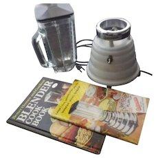 Vintage Osterizer White Beehive Blender & Books