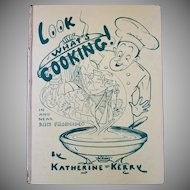 "Vintage Hardbound Cookbook - ""Look What's Cooking!"""