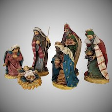 Vintage Clothtique Nativity Set