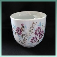 Hard to Find Vintage Hand Painted Motto Moustache Mug