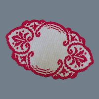 Vintage Hand-Knit or Woven Textile