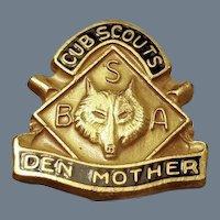 Vintage Cub Scout Den Mother Pin