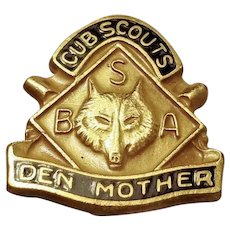 Vintage Cub Scout Den Mother Pin