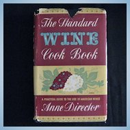 "Rare & Collectible Vintage Cookbook - ""The Standard Wine Cook Book"""