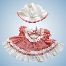 Vintage Dress and Sunhat for Kissy or Similar Doll