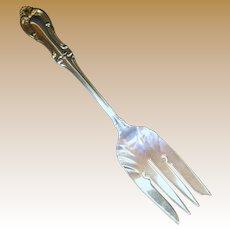 """Vintage Sterling Silver International """"Joan of Arc"""" Pattern Large Serving Fork"""