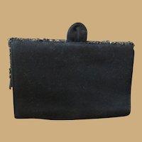 Vintage Signed K & G Charlet Black Purse