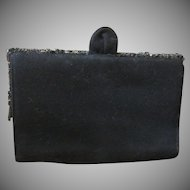Vintage Signed K & G Charlet Black Purse