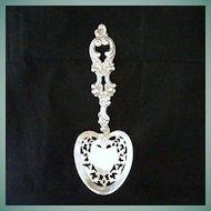 Antique Art Nouveau Signed Sterling Silver Serving Spoon