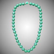 Vintage Signed Trifari Early Plastic Bead Necklace