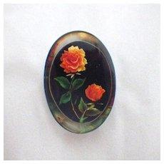 Vintage Lucite Rose Flower Brooch