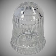 Vintage Cut Crystal Glass Covered Jar